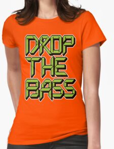 Drop The Bass (neon) Womens Fitted T-Shirt