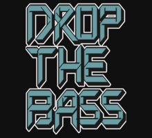 Drop The Bass (cyan) Kids Tee