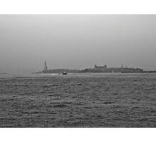 Statute of Liberty & Ellis Island Photographic Print
