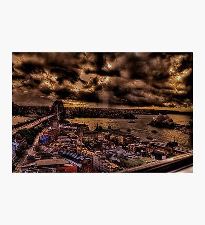 Harbour Bridge and Opera House Sydney Photographic Print