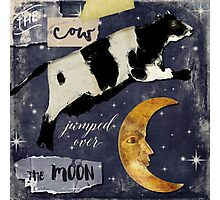Cow Jumped Over The Moon Photographic Print
