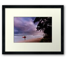 Pipeline Surfer 15 Framed Print