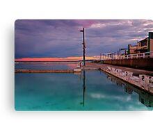 Poles, Sunset, Ocean Baths, Paradise Canvas Print
