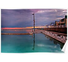 Poles, Sunset, Ocean Baths, Paradise Poster