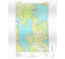USGS Topo Map Washington State WA Suquamish 244137 1953 24000 Poster