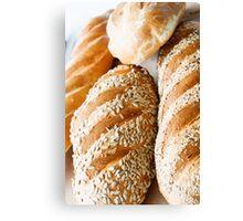 Fresh Baked Bread in Window Light Canvas Print