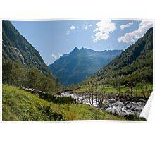 Mountain Valley Panorama, Ticino Poster