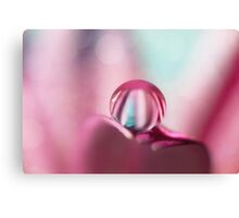 Candy Stripe Drop Canvas Print