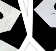 Origami panda Sticker