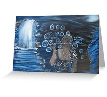 """""""Bubbles""""  by Carter L. Shepard Greeting Card"""