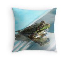 Olympic Frog~ Throw Pillow