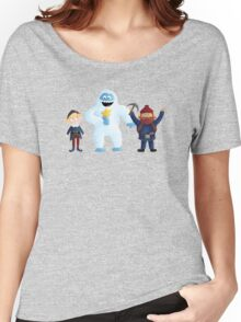 Yukon, Hermey and the Bumble in Teal Women's Relaxed Fit T-Shirt
