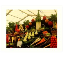 Display of Fruits and Vegetables Art Print