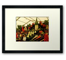 Display of Fruits and Vegetables Framed Print