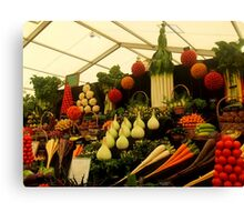 Display of Fruits and Vegetables Canvas Print
