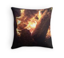 Fires embers  Throw Pillow