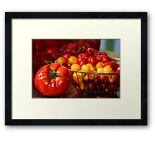 My August Harvest Framed Print