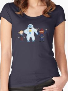 Yukon Bumble and Hermey Women's Fitted Scoop T-Shirt