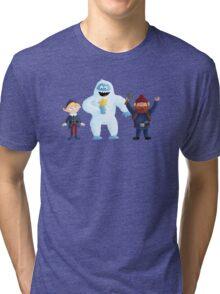 Yukon Bumble and Hermey Tri-blend T-Shirt