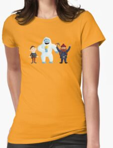 Yukon Bumble and Hermey Womens Fitted T-Shirt