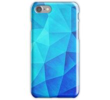 Abstract Polygon Multi Color Cubizm Painting in ice blue iPhone Case/Skin