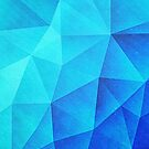 Abstract Polygon Multi Color Cubizm Painting in ice blue by badbugs