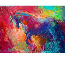 Vibrant Horse Stallion painting Photographic Print