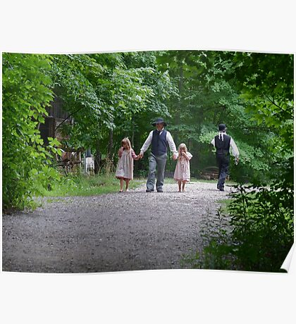 A morning walk with dad Poster