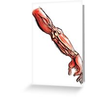 Arm Anatomy Greeting Card