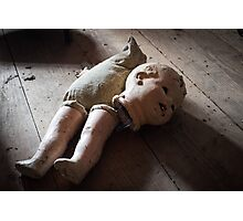 Yes It's a Creepy Doll Photographic Print