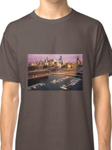 Melbourne city and Docklands at sunset Classic T-Shirt