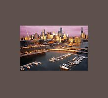 Melbourne city and Docklands at sunset Unisex T-Shirt
