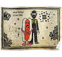 Ninja Brian's Burger Time High Score Poster