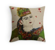 puppet with swords Throw Pillow