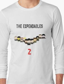 The Expendables 2 in South Park Long Sleeve T-Shirt