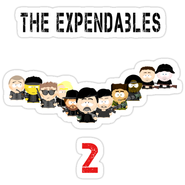 The Expendables 2 in South Park by b8wsa