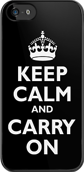 Keep Calm & Carry On - Be British! by TOM HILL - Designer