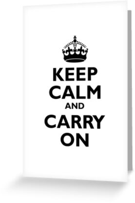 KEEP CALM & CARRY ON - BE BRITISH (IN BLACK) by TOM HILL - Designer