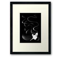 Black hair Framed Print