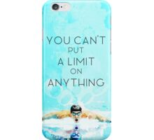 Swimming with no limits iPhone Case/Skin