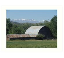 OH, THOSE ROADSIDE BARNS! Art Print