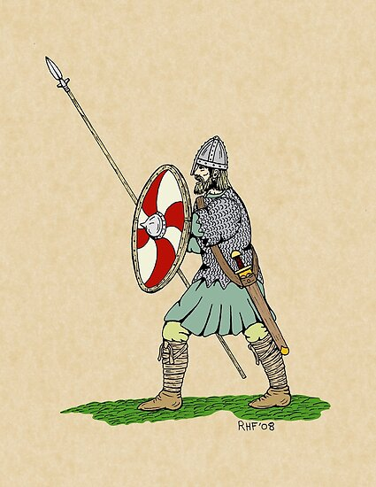 Saxon Warrior http://www.redbubble.com/people/rhfay/works/9198600-anglo-saxon-warrior