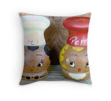 Mama's Salt and Pepper Shakers Throw Pillow