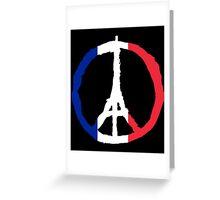 Pray For Paris Greeting Card