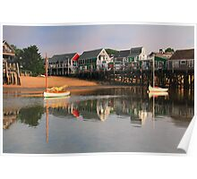 Sailboats and Provincetown Harbor Waterfront  Poster