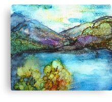 Alcohol Mountains Canvas Print