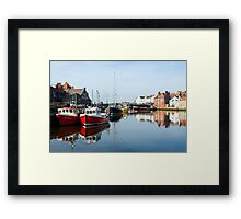 Whitby Harbour Framed Print