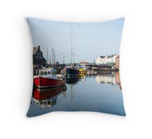 Whitby Harbour Throw Pillow