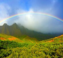 Kalalau Rainbow by kevin smith  skystudiohawaii