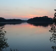 Sunset over Swithland Reservoir by JulieGrant